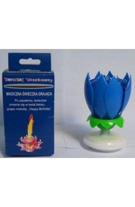 H I T Świeczka Kwiat Lotosu - niebieski