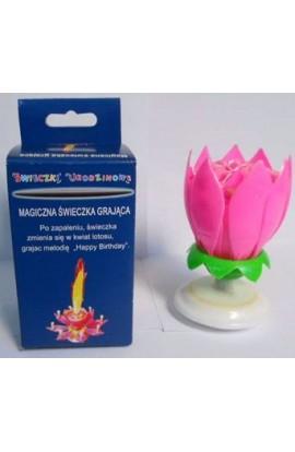 H I T Świeczka Kwiat Lotosu - różowy