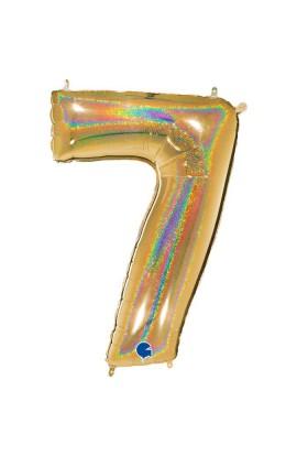 "Cyfra 7 - balon holograficzny 40"""