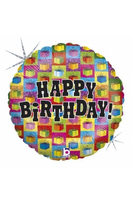 "Balon urodzinowy 18"" PRESENT GALORE"