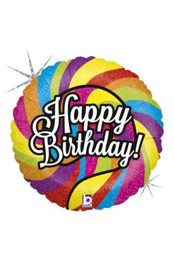 """Balon urodzinowy 18"""" LOLLIPOP BIRTHDAY"""