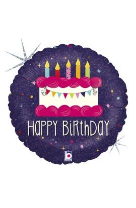 "Balon urodzinowy 18"" 45cm BIRTHDAY BANNER"