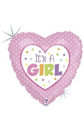 "18"" BABY GIRL DOTS"
