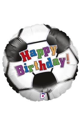 "Balon urodzinowy 18"" 45 cm SOCCER BALL BIRTHDAY"