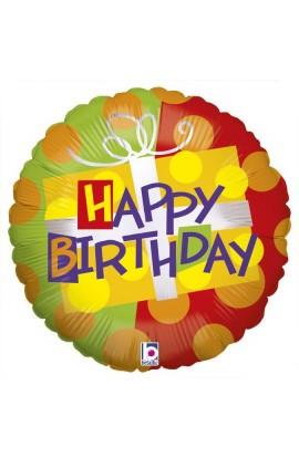 """Balon urodzinowy 18"""" 45 cm BIRTHDAY GIFT"""