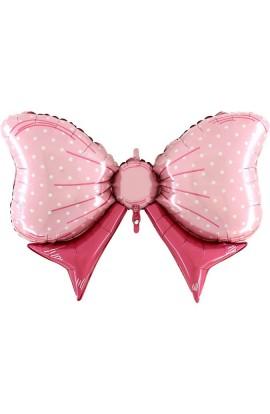 Balon kokardka różowa