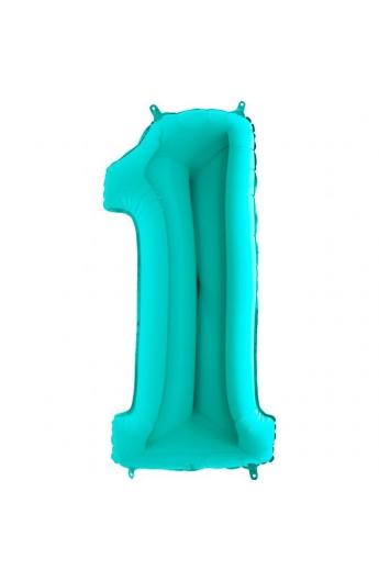"""40"""" 101 cm Cyferka 1 Tiffany"""