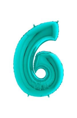 """40"""" 101 cm Cyferka 6 Tiffany"""