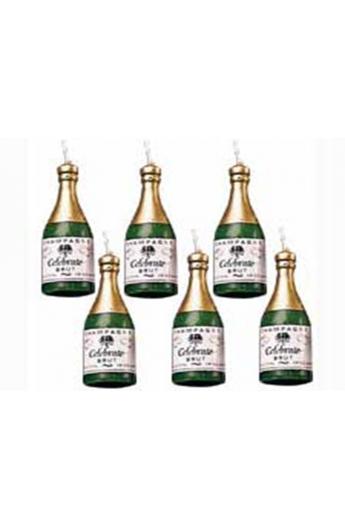 Świeczki szampany 6 szt. wysokość 4.5 cm