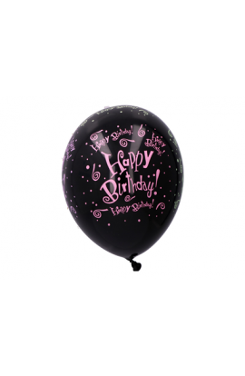 Balon czarny HB 6 szt. 30 cm