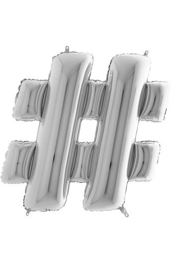 """40"""" 101 cm ZNAK SREBRNY - hash"""