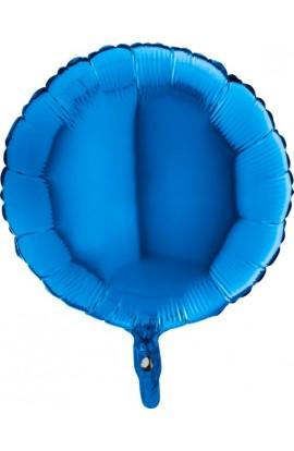 Balon jednokolorowy okrągły niebieski