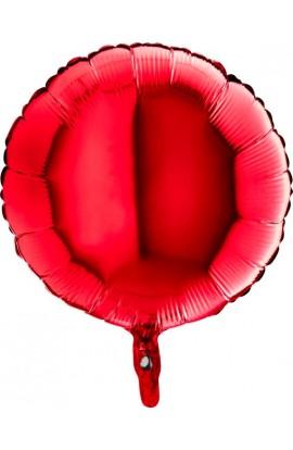 Balon jednokolorowy okrągły czerwony