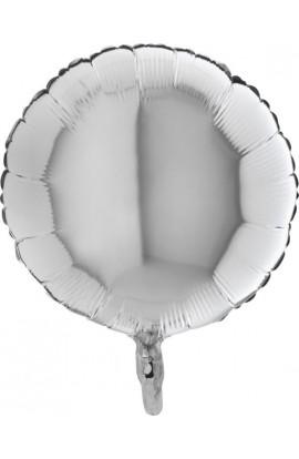 """Balon foliowy 18"""" okrągły srebrny"""