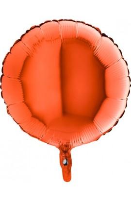 Balon jednokolorowy okrągły pomarańczowy