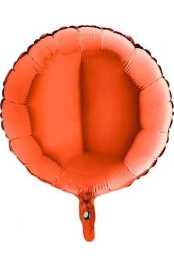"""Balon foliowy 18"""" okrągły pomarańczowy"""