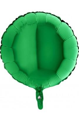 """Balon foliowy 18"""" okrągły zielony"""