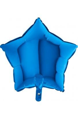 Balon jednokolorowy gwiazda niebieski