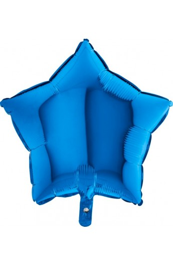 "Balon foliowy 18"" gwiazda niebieska"