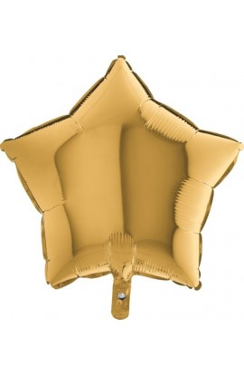 Balon jednokolorowy gwiazda złoty