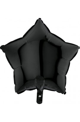 Balon jednokolorowy gwiazda czarny