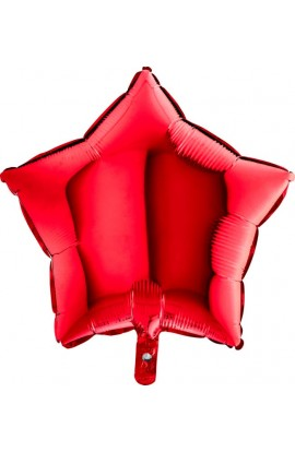 Balon jednokolorowy gwiazda czerwony