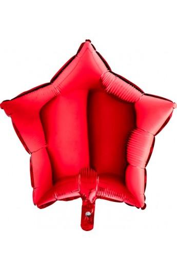 """Balon foliowy 18"""" gwiazda czerwona"""