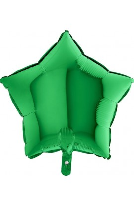 Balon jednokolorowy gwiazda zielony
