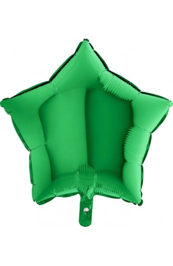 """Balon foliowy 18"""" gwiazda zielona"""