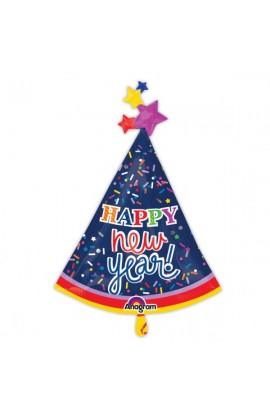 """Balon foliowy 24"""" Czapeczka Happy New Year"""