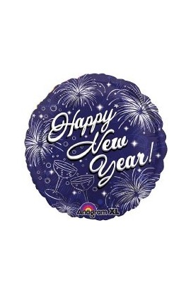"Balon foliowy 18"" Happy New Year"