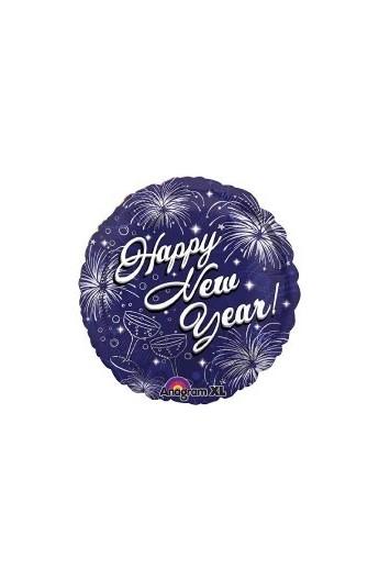"Balon foliowy 18"" Happy New Year"