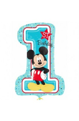 """Balon foliowy 24"""" Jedynka Myszka Mickey"""
