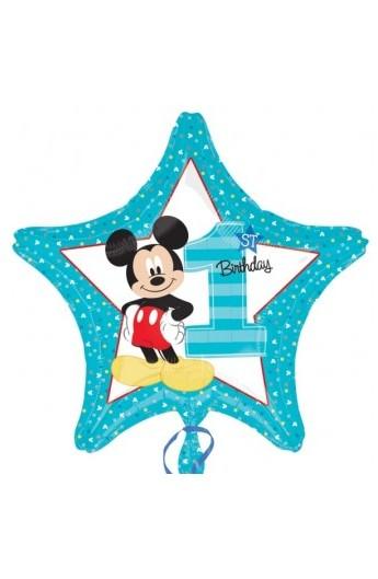"""Balon foliowy 18"""" Pierwsze urodziny Mickey"""