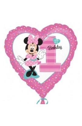 """Balon foliowy 18"""" Pierwsze Urodziny Minnie"""