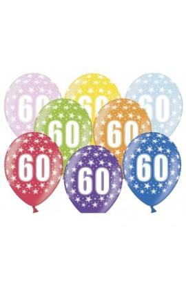 """Balony gumowe 12"""" z cyfrą 60"""