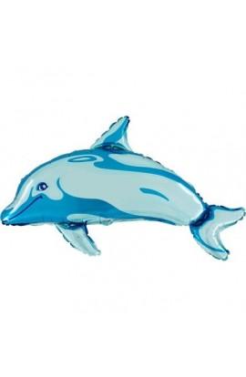"24"" Delfin Niebieski Grabo Transparent"