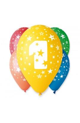 """Balony gumowe 12"""" z cyfrą 1"""