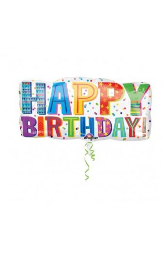 """24"""" HAPPY BIRTHDAY TYPE"""
