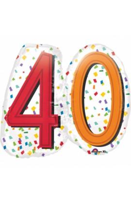 """Balon urodzinowy 24"""" RAINBOW BIRTHDAY 40"""