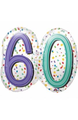 "Balon foliowy 24"" RAINBOW BIRTHDAY 60"