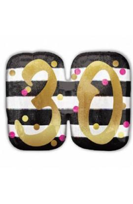 Balon urodzinowy PINK & GOLD 30