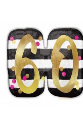 "Balon urodzinowy 24"" PINK & GOLD 60"