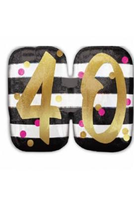 "Balon urodzinowy 24"" PINK & GOLD 40"