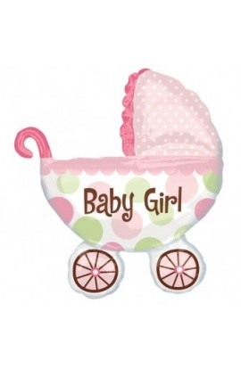 "Balon foliowy 24"" BABY GIRL BUGGY"