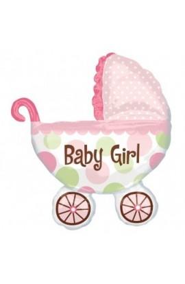 """Balon foliowy 24"""" Wózek Baby Girl"""