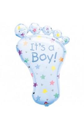 "Balon foliowy 24"" stópka z napisem ""It's a boy"""