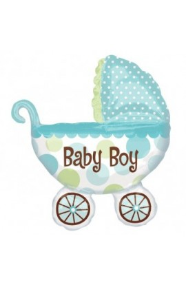 "Balon foliowy 24"" BABY BOY BUGGY"