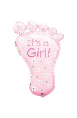"""Balon foliowy 24"""" Stópka It's a girl"""