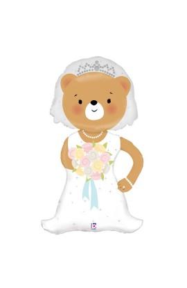 "Balon weselny 24"" LINKY BRIDE BEAR"